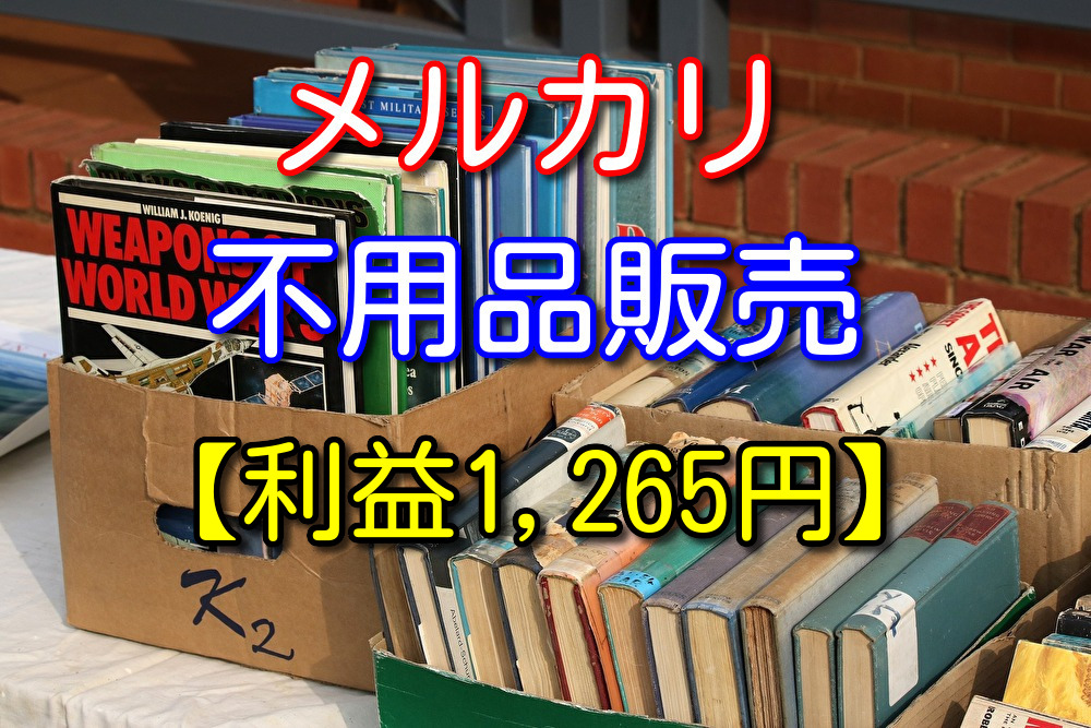 メルカリ初心者が不用品を売ってみた感想【利益1,265円】