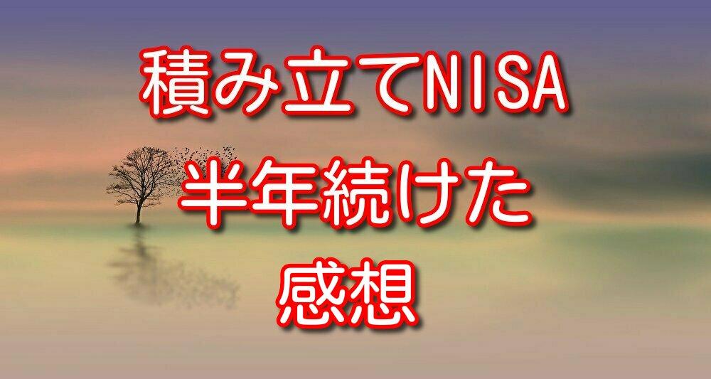 【積立NISA利用】投資信託を半年間積み立てた感想【購入銘柄も紹介】